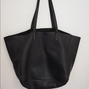 Baggu Large Leather Horizontal Shopping Tote